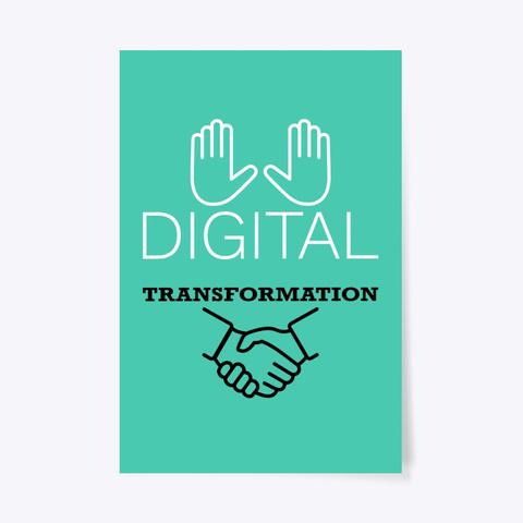 Digital Transformation Aqua T-Shirt Front