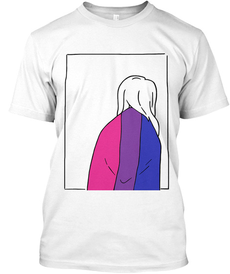 Bisexual Pride   Cloak Of Visibility  White T-Shirt Front