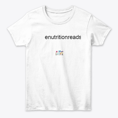 Enutrition Reads White T-Shirt Front