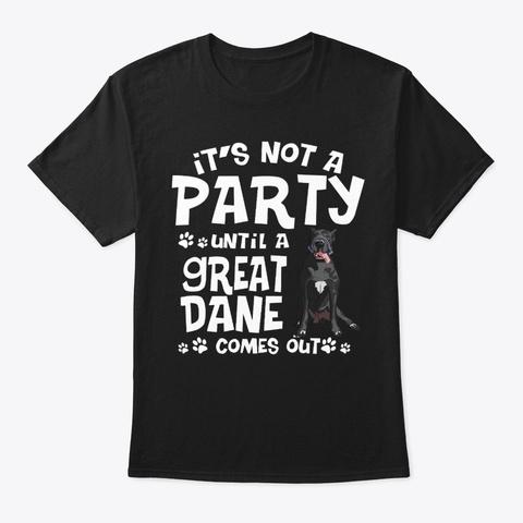 Great Dane Dog Great Dane Lovers  Black T-Shirt Front