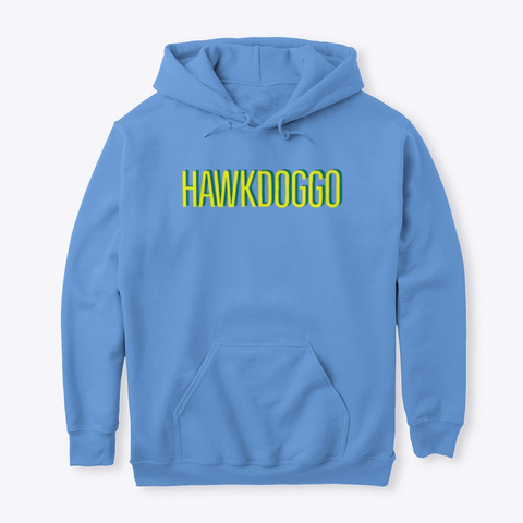Hawk Doggo Carolina Blue T-Shirt Front