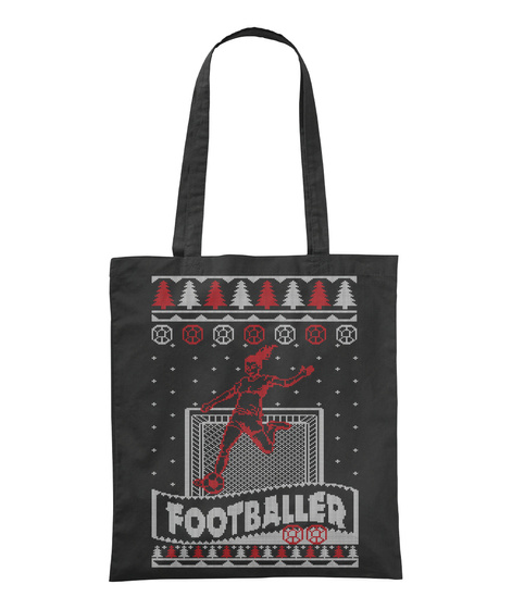 Footballer Black T-Shirt Front