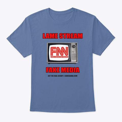 Fnn: Fake News Network Tee Denim Blue T-Shirt Front