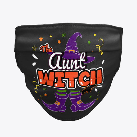 Aunt Witch Halloween Group Matching Black T-Shirt Front