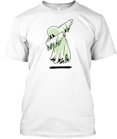 Ghost Hunting Paranormal Investigator White T-Shirt Front