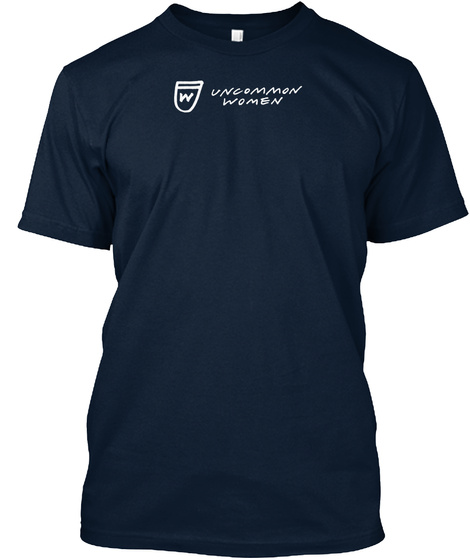 W Uncommon Women New Navy T-Shirt Front