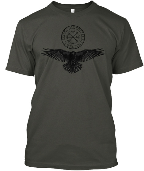 For I Am The Raven ~ The Child Of Odin Smoke Gray T-Shirt Front