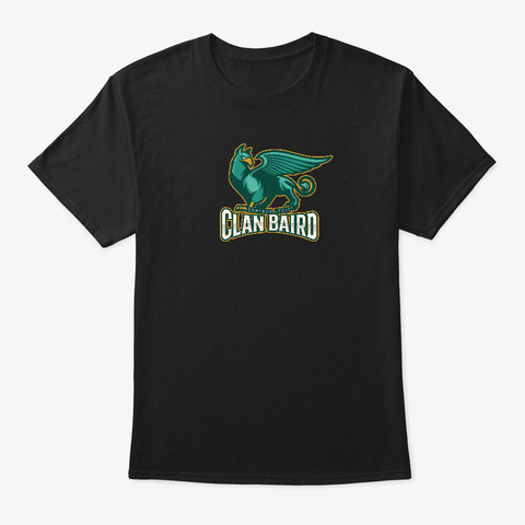 Clan Baird Tee Design Black T-Shirt Front