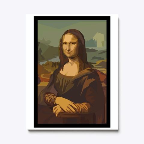 La Joconde (Mona Lisa) Portrait  Standard T-Shirt Front