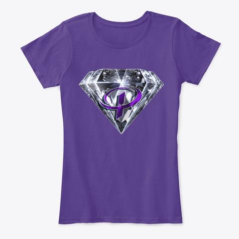 Purple Fit Theory Keto Queen Tee Purple T-Shirt Front