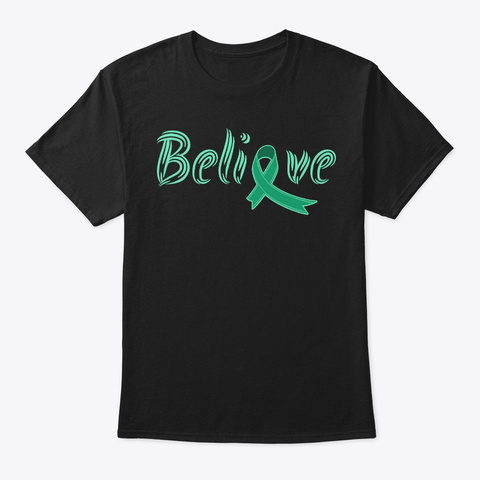 Believe, Celiac Disease Awareness Black T-Shirt Front
