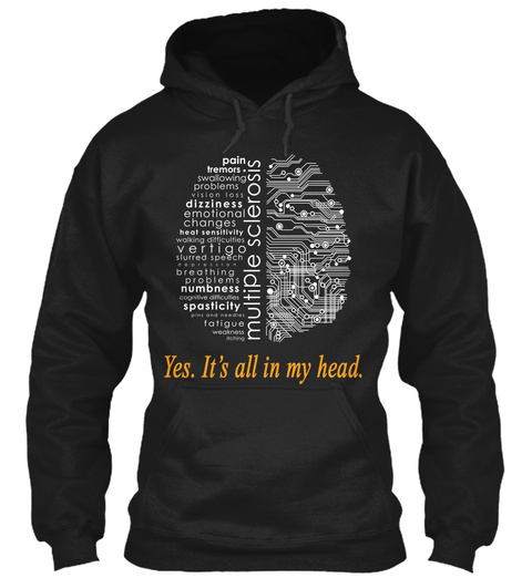 Yes Its All In My Head Black T-Shirt Front