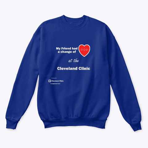 Helping Heart Fund Deep Royal  T-Shirt Front