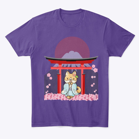 The Beauty Of Shiba And Japan Purple T-Shirt Front