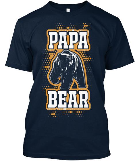 Papa Bear New Navy T-Shirt Front