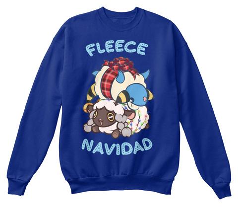 Fleece Navidad Deep Royal  T-Shirt Front