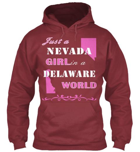 Nevada   Delaware Maroon T-Shirt Front