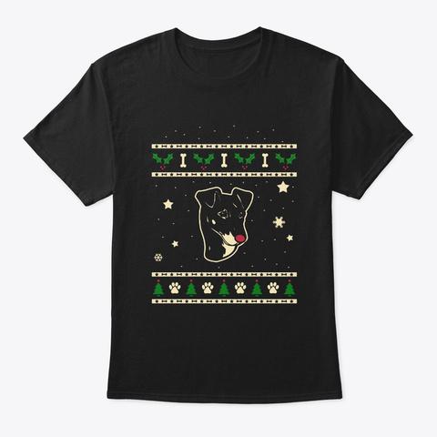 Christmas Manchester Terrier Gift Black T-Shirt Front