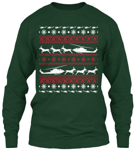 Cobra Christmas Forest Green T-Shirt Front