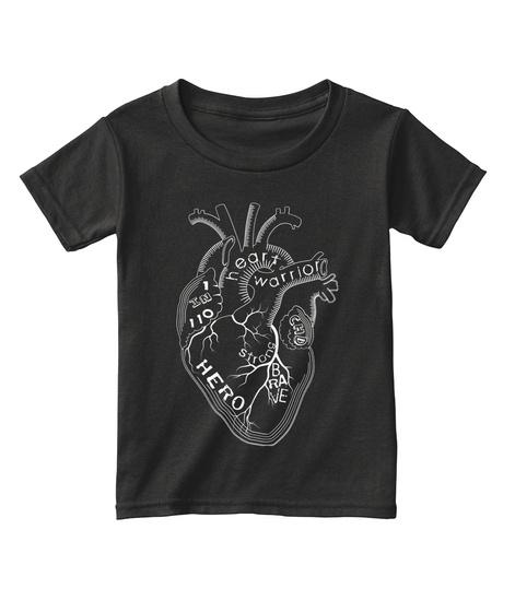 Heart Warrior Strong Brave Hero 1 In 110 Chd Black T-Shirt Front