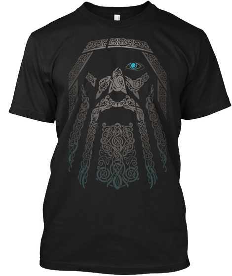 Power Of Odin Black T-Shirt Front