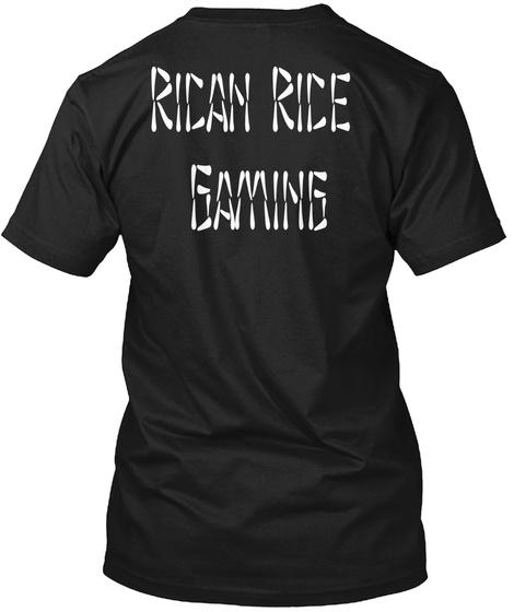Rican Rice Gamin Black T-Shirt Back