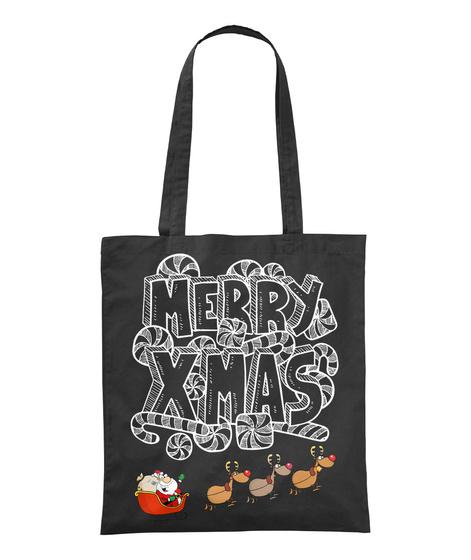 Merry Xmas Black T-Shirt Front