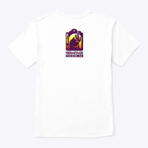 Black Cat Appreciation Day:  A Little... White T-Shirt Back