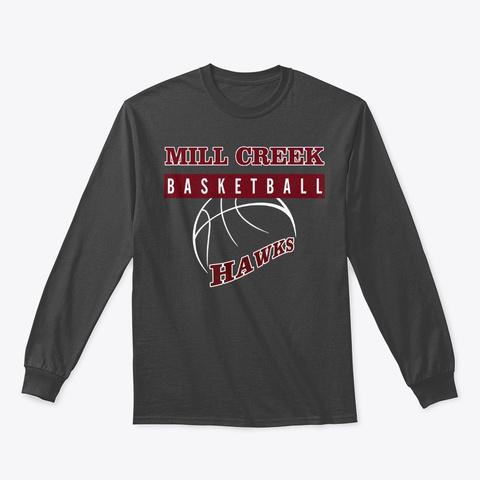 Mill Creek Hawks Basketball Wear Dark Heather T-Shirt Front