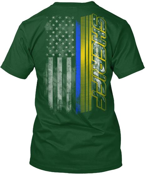 Thin blue line sheriff flag hanes tagless tee t shirt ebay for Texas thin blue line shirt