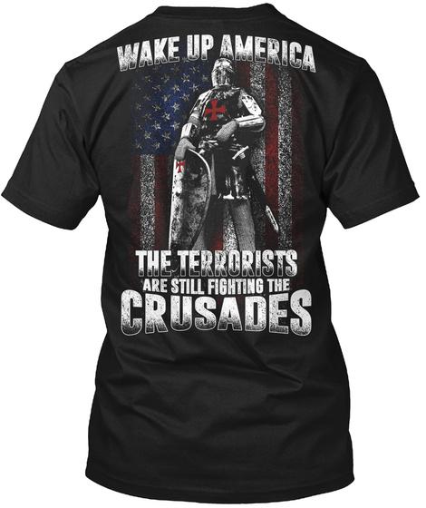 Wake Up America   Limited Edition Black T-Shirt Back