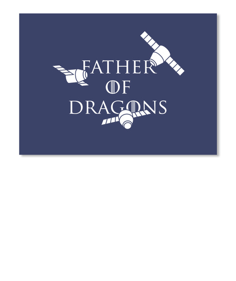 Father Of Dragons Sticker [Int] #Sfsf Dark Navy Sticker Front