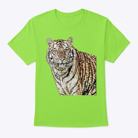 Tiger|Shirt|Hoodie|Iphone|Samsung|Design Lime T-Shirt Front