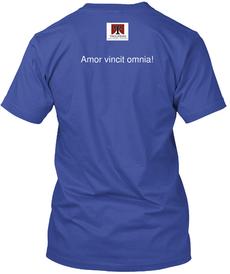 T Amor Vincit Omnia! Deep Royal T-Shirt Back