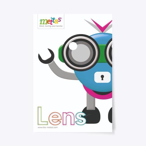 Lens – Mettas Character Poster Standard T-Shirt Front