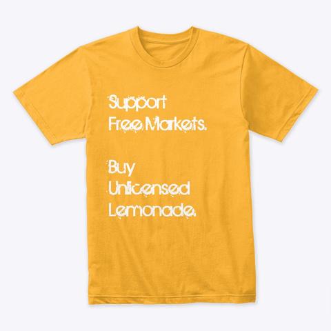 Buy Unlicensed Lemonade Gold T-Shirt Front