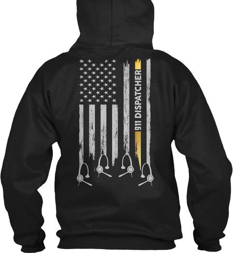 911 Dispatcher Black T-Shirt Back