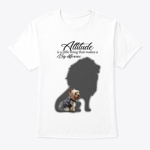 Yorkie Attitude White T-Shirt Front