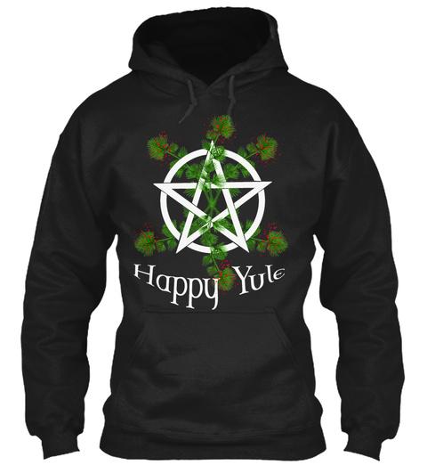 Happy Yule Black T-Shirt Front