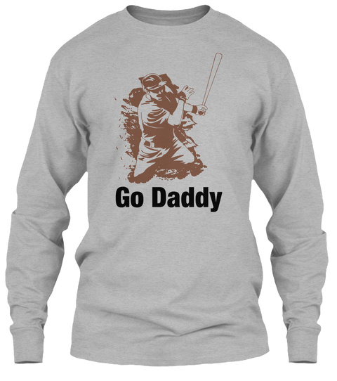 Go Daddy Sport Grey T-Shirt Front