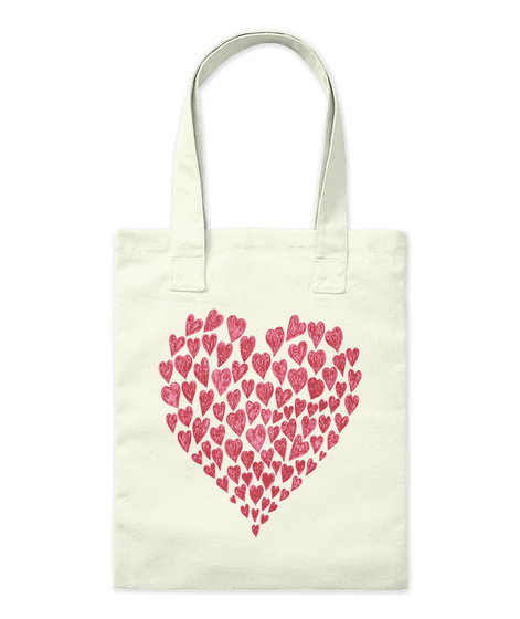 Heart Tote Bag Natural T-Shirt Front