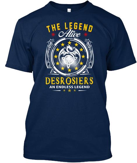 Desrosiers   The Legend Alive Navy T-Shirt Front