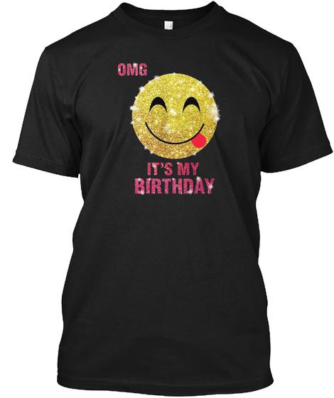 Birthday Emoji Shirt For Girls Black T Front