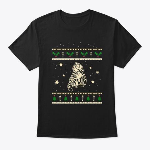 Christmas American Shorthair Gift Black T-Shirt Front