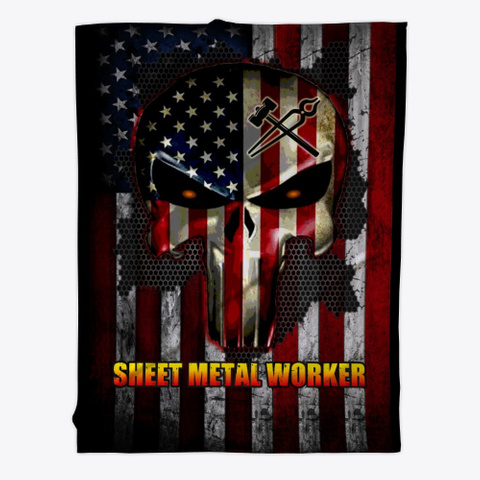 Sarcastic Sheet Metal Worker Blanket Black T-Shirt Front