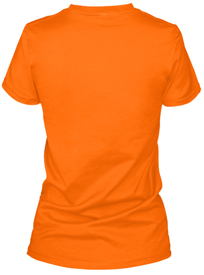 Church Administrator Tee Orange Women's T-Shirt Back
