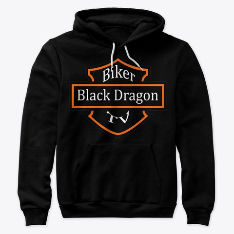 Support Black Dragon Biker Tv Design 1 Black T-Shirt Front