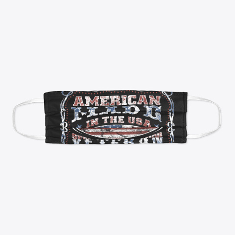 American Made Veteran Black T-Shirt Flat