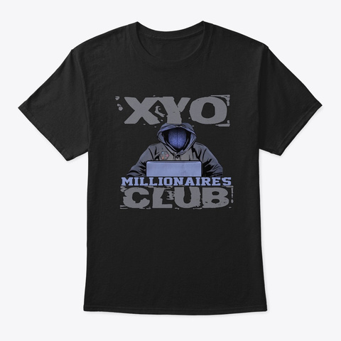 Xyo Millionaires Club Design Black T-Shirt Front