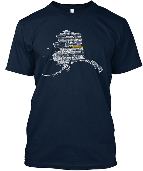 Prudhoe Frirbanks New Navy T-Shirt Front